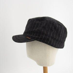 Ben Sherman Gray Striped Military Hat